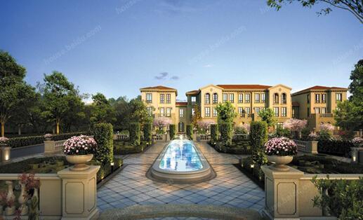 青山湖板块绿城西子青山湖玫瑰园在售有法式合院,法式小墅和山地别墅图片